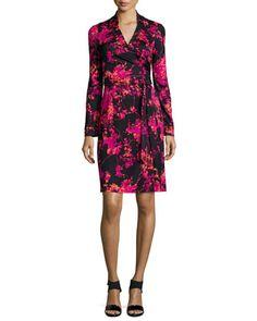 New Jeanne Two Floral Daze Wrap Dress by Diane von Furstenberg at Neiman Marcus.