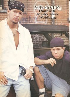 Donnie and Mark Wahlberg back in tha day. Mark Wahlberg Ted, Mark Wahlberg Young, Mark Wahlberg Calvin Klein, Mark Wahlberg And Wife, Donnie And Mark Wahlberg, Wahlberg Brothers, All Star, Hemsworth Brothers, Joey Mcintyre