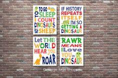 Dinosaur NurseryDinosaur Wall ArtINSTANT DOWNLOAD YOU
