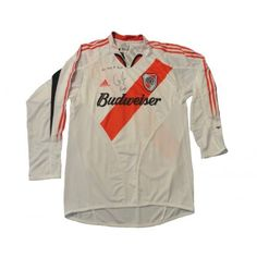 ADIDAS RIVER PLATE 2005 G FERNANDEZ AUTHOGRAPHED JERSEY - River Plate 2005  home white red black long sleeve shirt. d6474a5a6