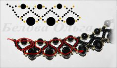 Necklace Bilberry pattern  U need:  round beads 4 mm  rondel beads 6-7 mm  seed beads 10\0 – 11\0