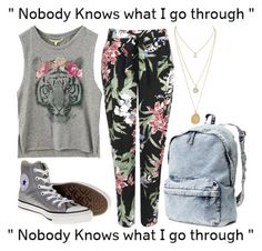 """""""*Thursday you didn't mean it*"""" by onedirection-5sos-lover ❤ liked on Polyvore featuring Wallis, H&M and Converse"""