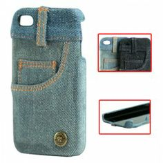 Fashionable Jeans Skin Hard Case with Pocket Design for iPhone 4 Iphone 4 Cases, Iphone 4s, Apple Iphone, 4s Cases, Best Iphone, Leather Case, Cell Phone Accessories, Pocket, Denim Jeans
