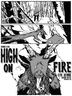 INSIDE THE ROCK POSTER FRAME BLOG: Ryan Mowry High on Fire Denver Poster