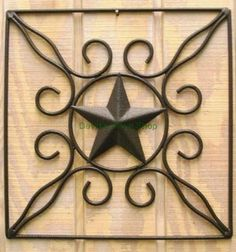 Texas Star Western Wall Decor Metal Art  AC104