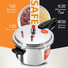 Online Shop Aluminium Alloy Kitchen Pressure Cooker Gas Stove Cooking Energy-saving Safety Protection Light-weight Easy to Clean Mini Milk, Electric Cooker, Steamer Recipes, Safety Valve, Double Boiler, Gas Stove, Cooking Tools, Aluminium Alloy, Save Energy