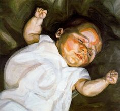 Baby On A Green Sofa by Lucian Freud
