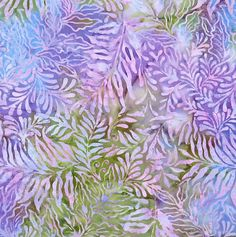 Leafy Batik By-The-Yard; Cotton fabric by Island Batik at TCSFabrics.com #Fabric #Batik #IslandBatik #111501012 #Purple #DIY #Meadow #Apparel #Décor #Quilting #Sewing #Craft
