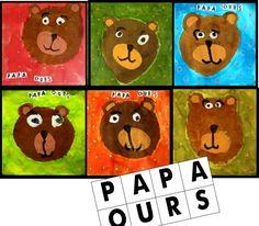Trois ours 3 Bears, Bear Theme, Petite Section, Virtual Art, Autumn Art, Art Plastique, 3 D, Fairy Tales, Kindergarten