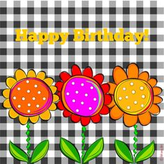 Happy Birthday - by Adriana Art - Birthday Msgs, Happy Birthday Greetings Friends, Happy 11th Birthday, Birthday Wishes For Kids, Happy Birthday Flower, Birthday Clipart, Birthday Blessings, Happy Birthday Messages, Happy Birthday Quotes