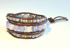 Wrap bracelet with jade