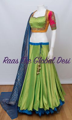 Product InformationColor : multiFabric : Silk Occasion : WeddingOccasion : partyWork : stone,sari,resham skirt length is 40 inches approx For any query CALL : 630 407 7419 Brocade Blouse Designs, Choli Designs, Lehenga Designs, Half Saree Lehenga, Lehenga Gown, Bridal Lehenga, Lehnga Dress, Lehenga Blouse, Indian Lehenga