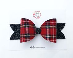 Now availabe on our store Tartan oversized bow - Red Check it out here!  [product-url