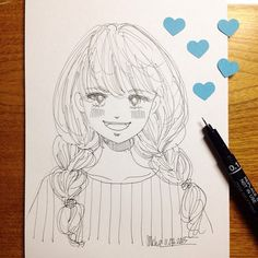 blue heart   #mekaworks #drawing