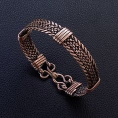 Braided twisted hammered wrapped copper men cuff bracelet, men bangle handmade arthritis pain relief wristband, golf metal men bracelet,7th copper anniversary gift for husband from wife Copper Cuff, Copper Bracelet, Gemstone Bracelets, Copper Jewelry, Bracelets For Men, Wire Jewelry, Bangle Bracelets, Bangles, Bracelet Men