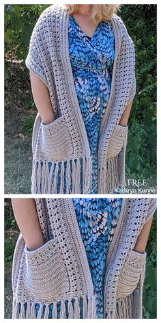 16 Reader's Pocket Wrap Shawl Free Crochet Patterns & Paid - DIY Magazine Boho Crochet Patterns, Crochet Wrap Pattern, Knit Or Crochet, Crochet Scarves, Crochet Stitches, Easy Crochet Shawl, Knitted Shawls, Crochet Prayer Shawls, Crochet Shawls And Wraps