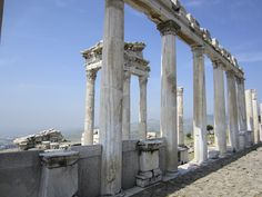 Ruins of the ancient city of Pergamon near Bergama Turkey.
