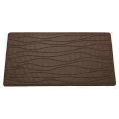 Carnation Home Medium (16'' x 28'') Slip-Resistant Rubber Bath Tub Mat in Brown