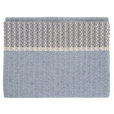Heal's Nova Blue Herringbone Throw