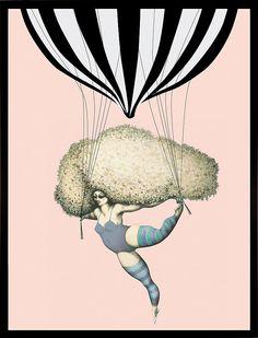 """Kunstdruck für Gallery Walls: """"Dancing with balloons"""""""