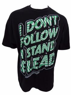 I Don't Follow I Stand and Lead T-Shirt Size XL Famous Stars & Straps  #FamousStarsStraps #GraphicTee