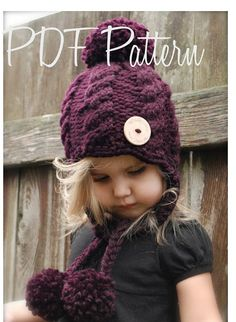 This is a listing for The PATTERN ONLY for The Roxie Cap This hat is handcrafted and designed with comfort and warmth in mind... Perfect for layering through all the seasons... This hat makes a wonderful gift and of course also something great for you or your little one to wrap
