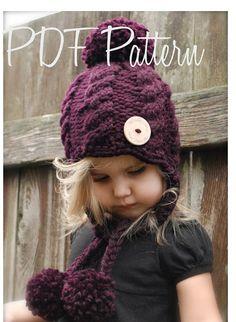Tejer sombrero de Roxie PATTERN-The 12/18 meses por Thevelvetacorn