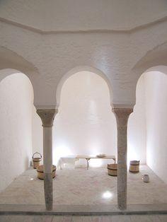 Banys - Turkish bath - Wikipedia, the free encyclopedia Marrakech, Spa Hammam, Turkish Bath House, Warehouse Plan, Persian Architecture, Pocket Park, Concrete Pool, Moorish, Resort Spa