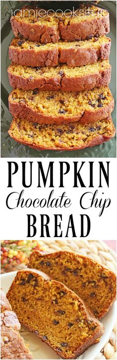 Pumpkin Chocolate Chip Bread from Jamie Cooks It Up!