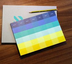 Monthly Planner Memo Pad [ 4 types ] / Monthly Scheduler / Keyboard Note Pad / 101663342 by DubuDumo on Etsy