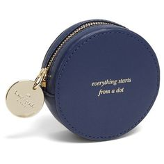kate spade new york 'dot' leather coin purse ($98) found on Polyvore