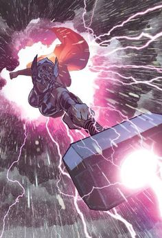 Thor (Jane Foster) by Adam Hughes