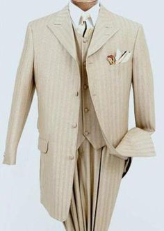 The Groom's suit inspiration: Tone on Tone 3 piece shadow stripe silk blend in a light gold: custom made for us locally at http://kashross.com/index.shtml