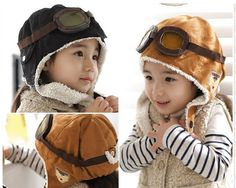 1f22e04159b Baby Girl Boy Infant Cute Pilot Earflap Winter Warm Hat Cap Bebe Toddler  Fashion Hats Beanie Headwear Kids Boys Caps Accessories-in Hats   Caps from  Mother ...