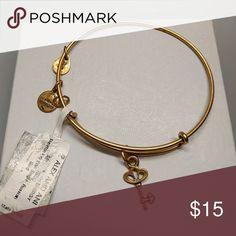 Bracelet Alex and ani bracelet gold tone adjustable size pre owned Alex & Ani Jewelry Bracelets