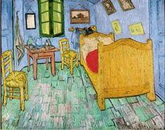 """VINCENT VAN GOGH: """"La chambre de Van Gogh à Arles (Van Gogh's room at Arles)"""", 1889 - oil on canvas, 73-92 cm. - Chicago, Art Institute"""