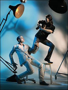 Matthew Bourne - Dorian Grey - photographer in studio with model - want to see