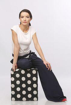 Wide pants YOKKO   ss16  #bleumarine #pants #wide #viscose #casual #outfits #yokko
