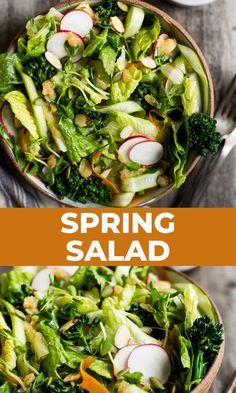 This salad is meant to be an appetizer, but you can make it a fuller meal by adding some avocado and your favorite protein! #spring #green #lemongrass #thai #salad #appetizer #side #maindish Good Healthy Recipes, Vegetarian Recipes, Spring Salad, Thai Style, Easy Salads, Fabulous Foods, Spring Green, Food Photo, Food Hacks