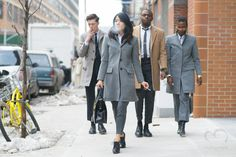People attend to Thom Browne 2015 2016 Fall Winter show during New York Fashion Week NYFW