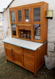 Hoosier cabinet with detached tag marked new castle indiana two extra wide sellers unit complete with all tin glass and even meat grinder on vintage cabinetvintage planetlyrics Images