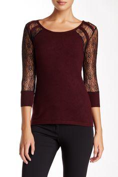 Crew Lace Sweater by Nicole Benisti on @HauteLook