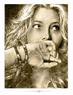 Jessica Biel - Traditional Dra by PitchBlackStudios.deviantart.com on @DeviantArt