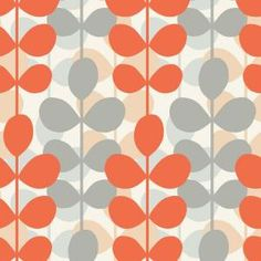 The Wallpaper Company, 56 sq. ft. Orange and Grey Retro Modern Leaf Stripe Wallpaper, WC1280104 at The Home Depot - Mobile
