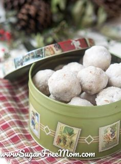 Sugar-Free Paleo Pecan Snowball Cookies