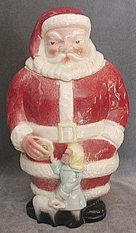 Vintage Rare Full Figure Santa Cookie Jar