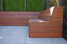 a custom built in ipe bench.