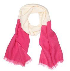 pinkpink & white scarf