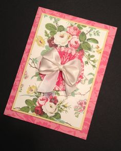 Shabby-Sweet Floral All Occasion Card with Anna Griffin Papers
