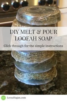 DIY Melt & Pour Loofah Soap Bars | natural products, how to make loofah soap DIY, soap making for beginners, without lye, with essential oils #loofahsoap #soapmaking #diysoap